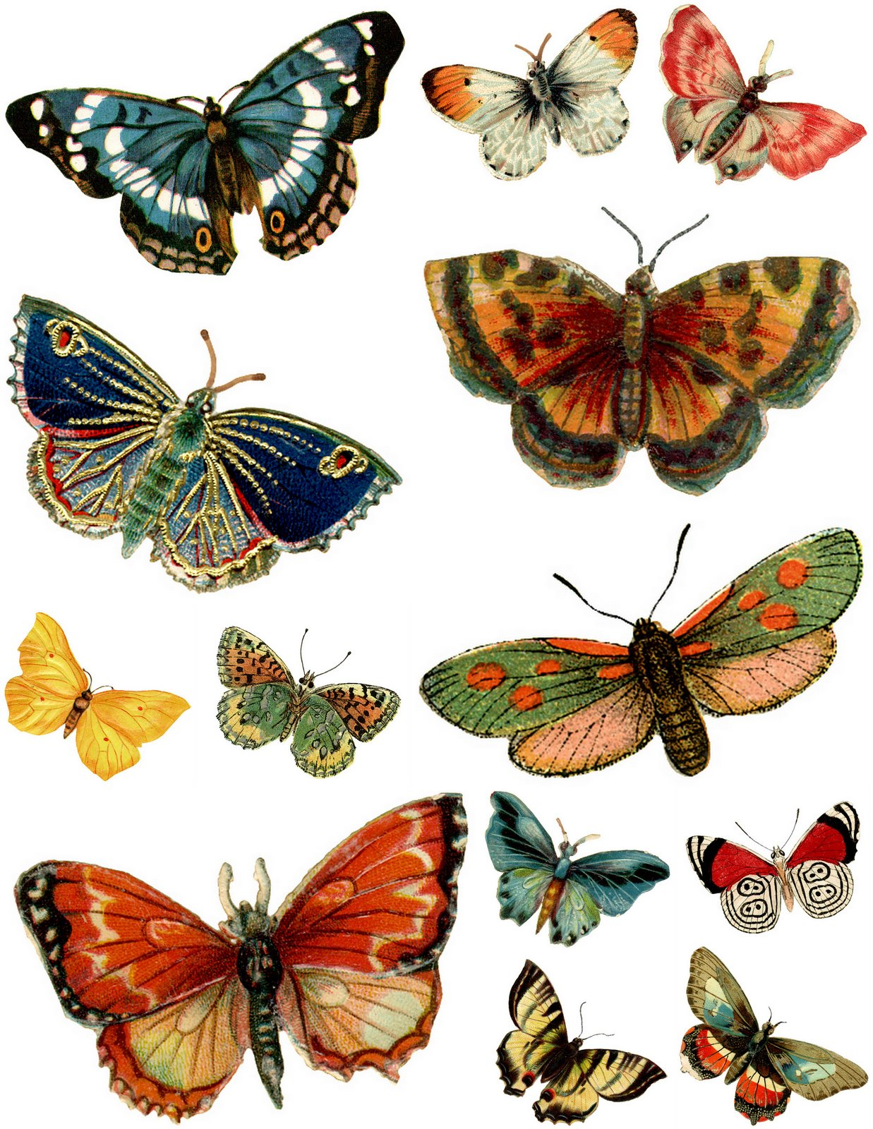 Free Vintage Butterflies by Images d'autrefois | Download Your Art