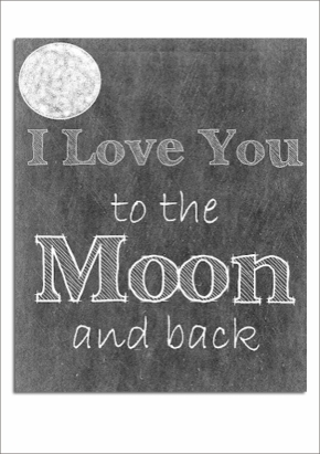 Love You To The Moon Free Print