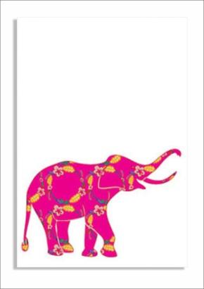 Pink elephant print