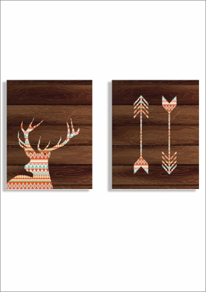 arrow and deer print
