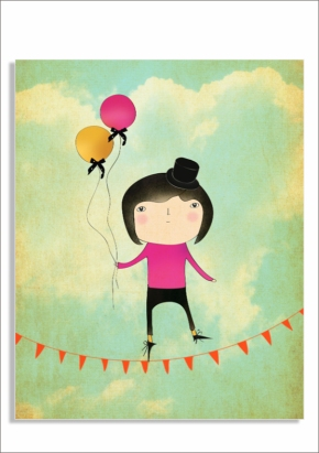 tightrope walker print